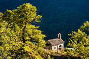 Backlit Photo Prints - Little Chapel in Ticino with beautiful green trees Print by Matthias Hauser