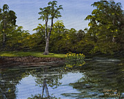 Chico Painting Framed Prints - Little Chico Pond Framed Print by Darice Machel McGuire