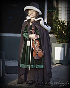Franklin Tennessee Metal Prints - Little Christmas Musician Metal Print by Pic