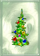 Toys Mixed Media - Little Christmas Tree by Anastasiya Malakhova