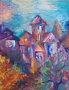 Christian Artwork Painting Originals - Little church by Armen Abel Babayan
