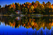 Marek Czaja Prints - Little Cottage By The Lake Print by Marek Czaja