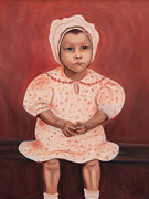 Portrait Tapestries - Textiles Prints - Little CottonPicker  Print by Blanch Paulin