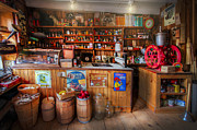 Grocery Stores Prints - Little Country Grocery  Print by Debra and Dave Vanderlaan