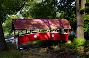 Covered Bridge Digital Art - Little Covered Bridge by Bill Cannon