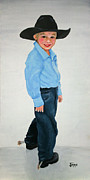 Oils Originals - Little Cowboy by Jimmie Bartlett