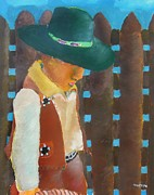 Cowboy Hat Mixed Media - Little Cowboy by Thuraya R