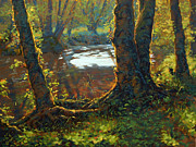 Oils Paintings - Little Creek by Michael Orwick
