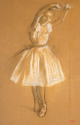 Ballet Dancers Drawings Framed Prints - Little Dancer Framed Print by Edgar Degas