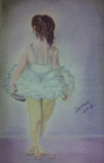Girl Framed Prints Framed Prints - Little Dancer Framed Print by Serran Dalmak