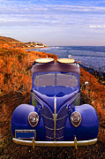 Surfboards Digital Art - Little Deuce Coupe at the Beach by Ron Regalado