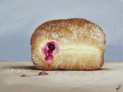 Jelly Donut Prints - Little Doughnut Print by Jane Palmer