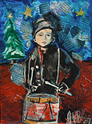 Jon Baldwin Art Framed Prints - Little Drummer Boy 2009 Framed Print by Jon Baldwin  Art