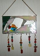 Panel Glass Art - Little fish by Nora Solomon