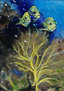 Fish Underwater Paintings - Little Fishies two by Peni Baker