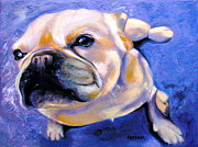 Puppy Drawings - Little French Bulldog by Susan A Becker