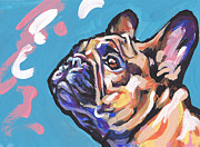 Colorful French Bulldog Art Posters - Little French Fry Poster by Lea