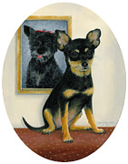 Original Oil  Doug Kreuger Paintings - Little Friends by Doug Kreuger