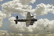 Lancaster Bomber Digital Art - Little Friends by James Biggadike