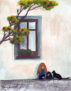 Burcu Alisan - Little girl and a cat