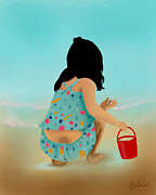 Zelma Hensel - Little girl at the beach