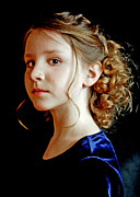 Jon Van Gilder Framed Prints - Little Girl Blue Framed Print by Jon Van Gilder