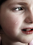 Cried Prints - Little Girl Crying with Tears Print by Lane Erickson
