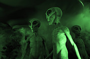 Ufo Photos - Little Green Men Roswell by Bob Christopher