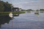 Cape Cod Paintings - Little Harbor Morning by OMalley Keyes
