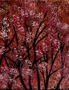 Tree Blossoms Paintings - Little Hearts by Lisa Aerts