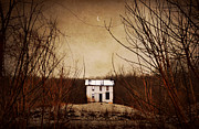Abandoned House Art - Little House On The Mountain by Emily Stauring