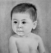 Hong Kong Drawings - Little Jack by Janet Gupta