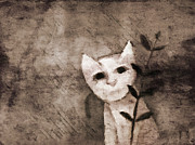 Kitty Mixed Media Prints - Little Kitten Print by Lutz Baar