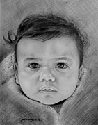 Photo Realism Drawings - Little Leo by Janet Gupta