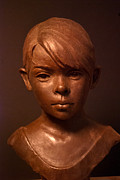 Portrait Sculpture Sculpture Posters - Little Maria Poster by Mary Buckman