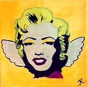 Angel Wings Paintings - Little Marilyn Original by Katya Tham