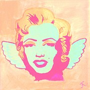Angel Wings Paintings - Little Marilyn Pink by Katya Tham