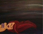 Limniad Paintings - Little mermaid by Oasis Tone