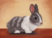 Rabbit Pastels Posters - Little One Poster by Anastasiya Malakhova