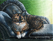 Domestic Pet Portrait Prints - Little One Print by Cara Bevan