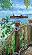 Florida Keys Paintings - Little Palm Island by Danielle  Perry