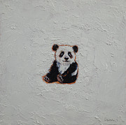 Panda Bear Paintings - Little Panda by Michael Creese