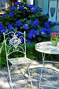 Ironwork Posters - Little Patio Chair Poster by Jan Amiss Photography