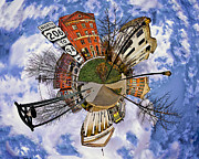 Court House Framed Prints - Little Planet Newton Framed Print by Mark Miller