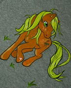 Pony Tapestries - Textiles Originals - Little Pony by Adina Bubulina