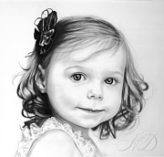 Beautiful Girl Drawings - Little Princess by Natasha Denger