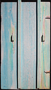 Rusty Sculpture Posters - Little Pump House Door Poster by Asha Carolyn Young