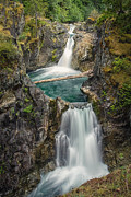 Little Qualicum Falls Print by Carrie Cole