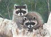 Animals Pastels Originals - Little Rascals by Christian Conner