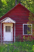 Little Cabin Photos - Little Red Cabin by Mike and Sharon Mathews